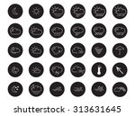 30 flat design weather icons | Shutterstock .eps vector #313631645