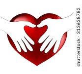 hands heart hug | Shutterstock .eps vector #313638782