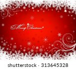 christmas background with... | Shutterstock .eps vector #313645328