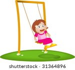 girl playing swing | Shutterstock . vector #31364896