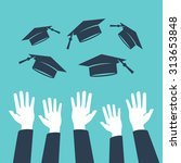 concept of education  hands of... | Shutterstock .eps vector #313653848