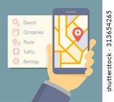 vector online navigator concept ... | Shutterstock .eps vector #313654265
