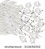 vector monochrome oriental...   Shutterstock .eps vector #313656542