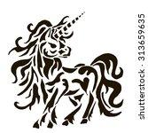 unicorn | Shutterstock .eps vector #313659635