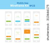 mobile wireframe app ui kit 23. ...