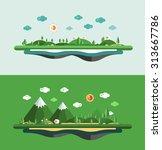modern vector flat design... | Shutterstock .eps vector #313667786