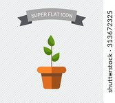icon of potted plant | Shutterstock .eps vector #313672325