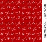 festive seamless pattern for... | Shutterstock .eps vector #313676438