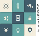 smart house icons set  vector...
