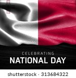 malta flag and celebrating... | Shutterstock . vector #313684322