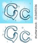 alphabet water letter c | Shutterstock .eps vector #313685036