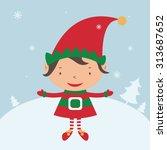 Christmas Elf Card Template....