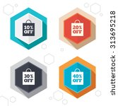 hexagon buttons. sale bag tag... | Shutterstock .eps vector #313695218