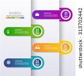 modern digital template vector ... | Shutterstock .eps vector #313702442