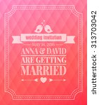 save the date. wedding... | Shutterstock .eps vector #313703042