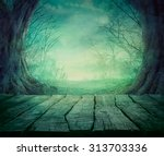 halloween background. spooky... | Shutterstock . vector #313703336