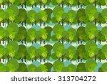 cartoon decorative style trees...