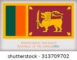 flag of sri lanka.sri lanka... | Shutterstock .eps vector #313709702