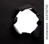 hole in the paper with place... | Shutterstock . vector #313732742