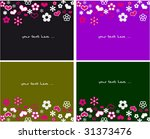 collection floral cards with... | Shutterstock .eps vector #31373476