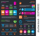 sport and fitness infographic... | Shutterstock .eps vector #313740032