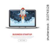 business start up concept... | Shutterstock .eps vector #313743128