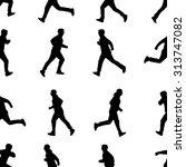 seamless wallpaper for running... | Shutterstock .eps vector #313747082