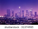 Downtown Los Angeles Skyline A...