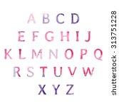 watercolor alphabet | Shutterstock .eps vector #313751228