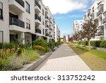 modern residential buildings ... | Shutterstock . vector #313752242