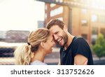 happy spontaneous attractive... | Shutterstock . vector #313752626