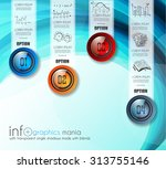 infographic abstract template... | Shutterstock .eps vector #313755146
