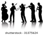 Vector Drawing Musical Group....