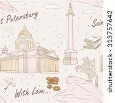 saint petersburg. seamless...   Shutterstock .eps vector #313757642