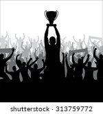 winner with the cup | Shutterstock .eps vector #313759772