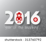 2016 new year card or...   Shutterstock .eps vector #313760792