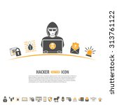 internet security concept with...   Shutterstock .eps vector #313761122