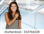 teenage girl set against a... | Shutterstock . vector #313766228
