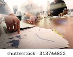 business documents on office... | Shutterstock . vector #313766822