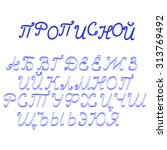 russian alphabet isolated on ... | Shutterstock . vector #313769492