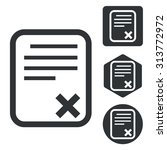 declined document icon set ...