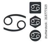 cancer icon set  monochrome ...