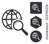 global search icon set ...