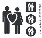love couple icon set ...