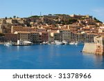 view on the harbor porteferraio ... | Shutterstock . vector #31378966