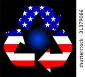 Vector American Recycle Symbol