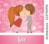 love concept with heart and... | Shutterstock .eps vector #313790996