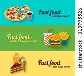 colorful flat design set of 3...   Shutterstock .eps vector #313795526