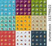 flat concept  set modern design ... | Shutterstock .eps vector #313798622