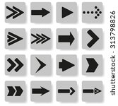 set of arrows on a gray... | Shutterstock .eps vector #313798826
